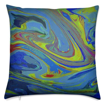 Luxury Cushions - Abstract Diesel Rainbow 3