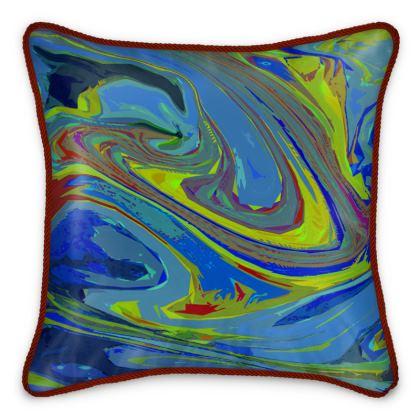 Silk Cushions - Abstract Diesel Rainbow 3