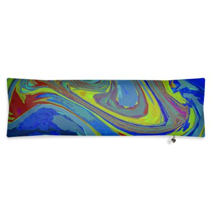 Bolster Cushion - Abstract Diesel Rainbow 3