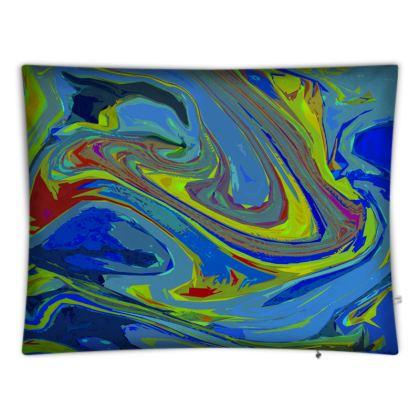 Floor Cushion Covers - Abstract Diesel Rainbow 3