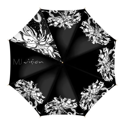 Umbrella - Paraply - White ink black