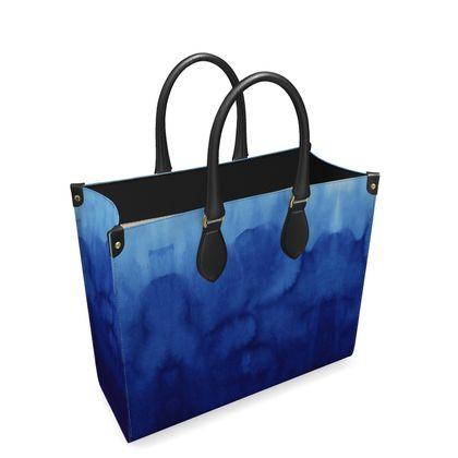 Blue Ombre - Leather Shopper Bag