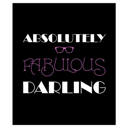 Curtains (116cmx137cm) - Absolutely Fabulous Darling - ABFAB (White text)