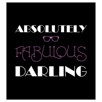 Curtains (167cmx182cm) - Absolutely Fabulous Darling - ABFAB (White text)