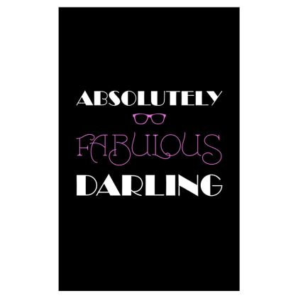 Voile Curtains (116cmx182cm) - Absolutely Fabulous Darling - ABFAB (White text)