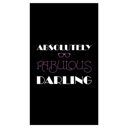 Roller Blinds (91cmx162cm) - Absolutely Fabulous Darling - ABFAB (White text)