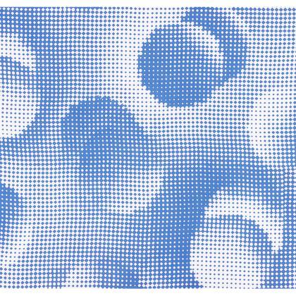 Large Tray - Endleaves of Art. Taste. Beauty (1932) Blue Remix