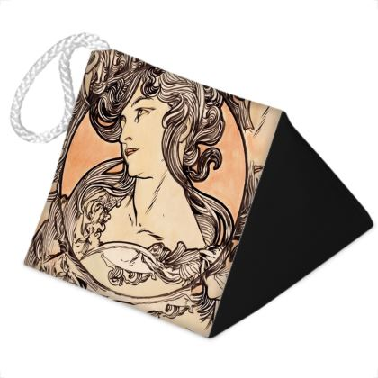 Door Stopper - Alphonse Maria Mucha Stained Glass #1