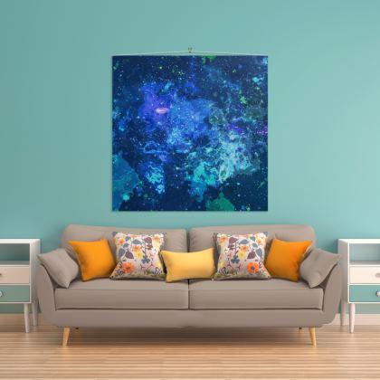 Wall Hanging - Blue Nebula Galaxy Abstract