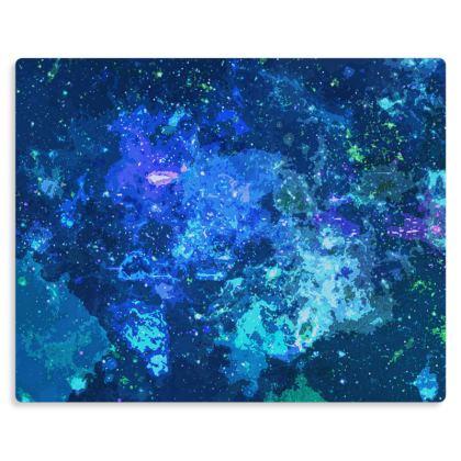 Metal Prints - Blue Nebula Galaxy Abstract