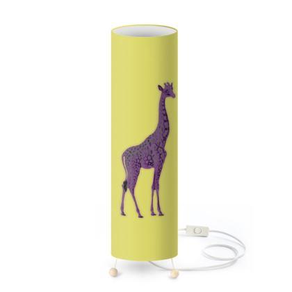 Standing Lamp - Purple Neon Giraffe