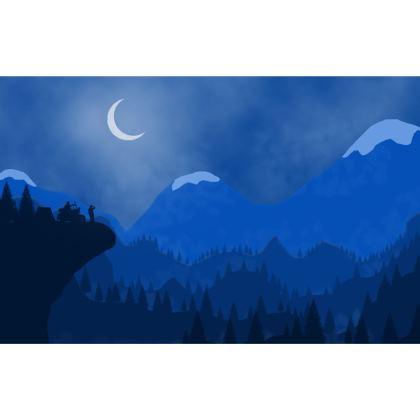 Clutch Bag - Midnight Camping
