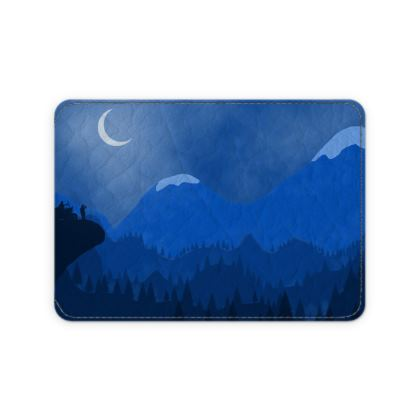 Leather Card Case - Midnight Camping