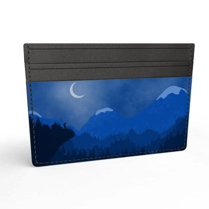 Leather Card Holder - Midnight Camping