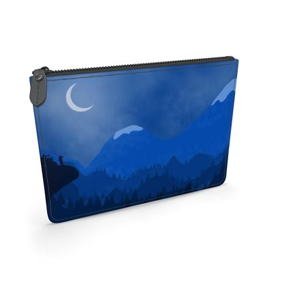 Leather Pouch - Midnight Camping