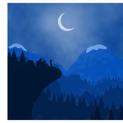 Shoulder Bag - Midnight Camping