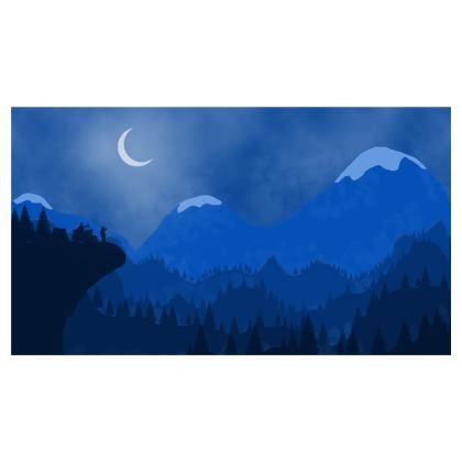Travel Wallet - Midnight Camping