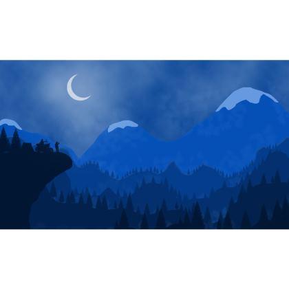 Zip Top Handbag - Midnight Camping
