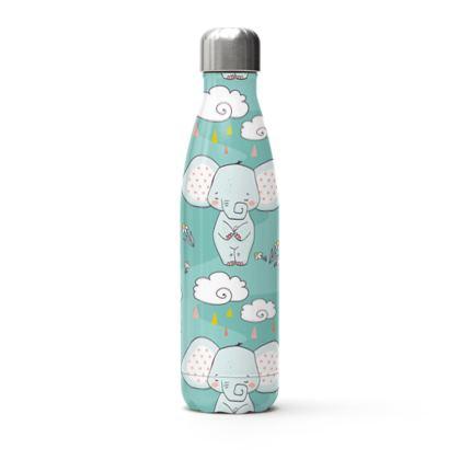 cute elephants thermal bottle