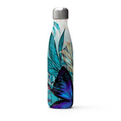 butterfly flowers thermal bottle
