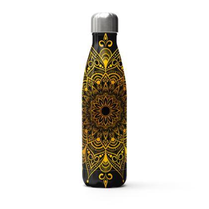 gold mandala thermal bottle