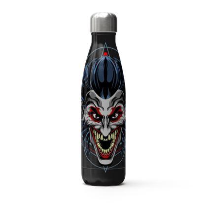 scary devil clown thermal bottle