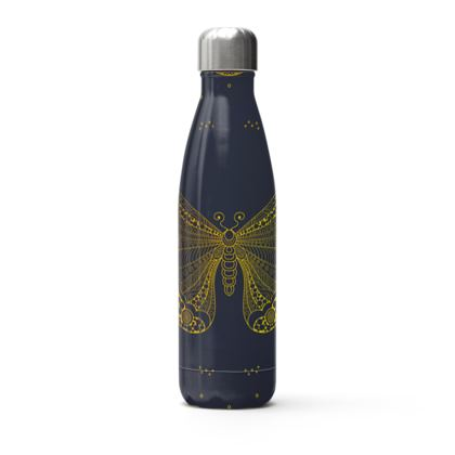 golden mandala butterfly thermal bottle