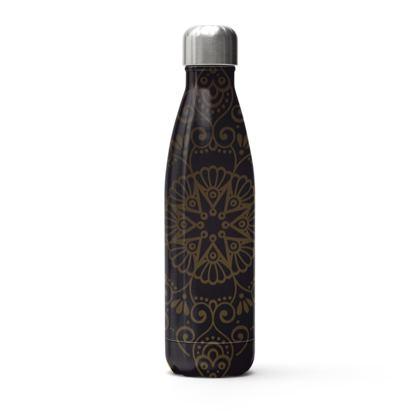 dark mandala thermal bottle