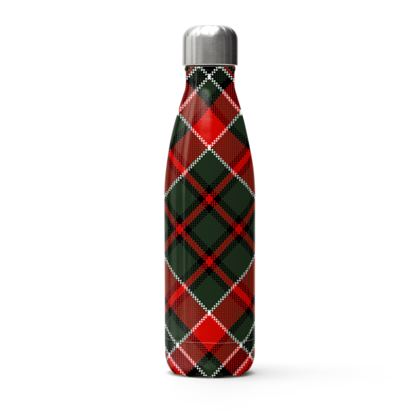 plaid thermal bottle