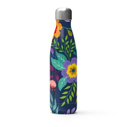multi flowers thermal bottle