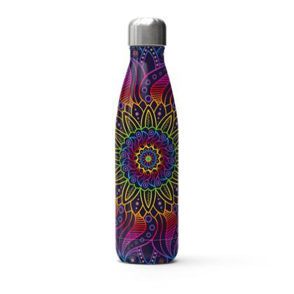 vivid mandala thermal bottle