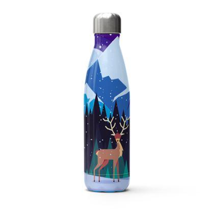 winter deer thermal bottle