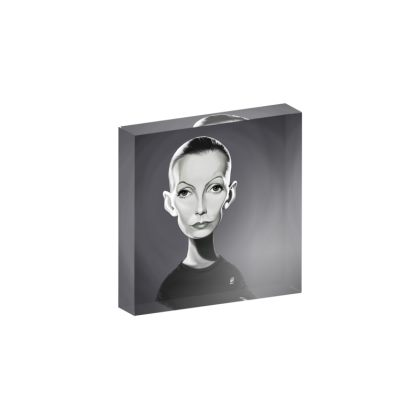 Greta Garbo Celebrity Caricature Acrylic Photo Blocks