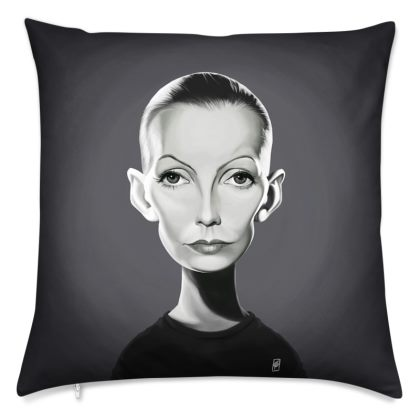 Greta Garbo Celebrity Caricature Cushion