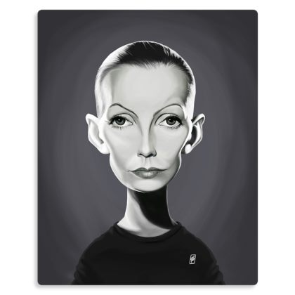 Greta Garbo Celebrity Caricature Metal Print