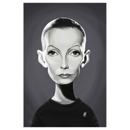 Greta Garbo Celebrity Caricature Art Print