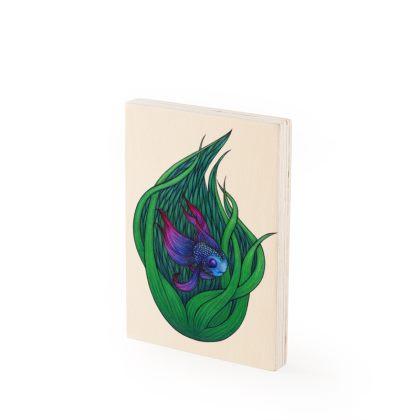 Hide your Light Wood Print