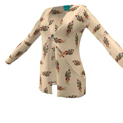Rocket Sloth Ladies Cardy With Pockets