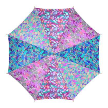 Umbrella Diamond Leaves Evening Glow