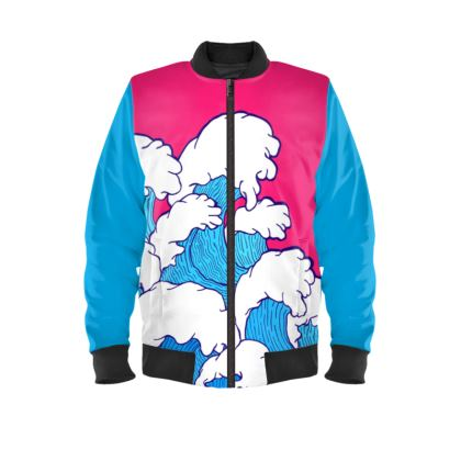 Ladies Bomber Jacket -  As the waves roll in