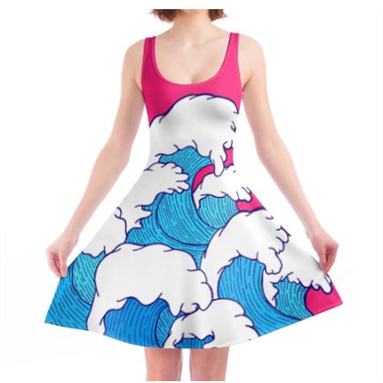 As the waves roll in skater dress