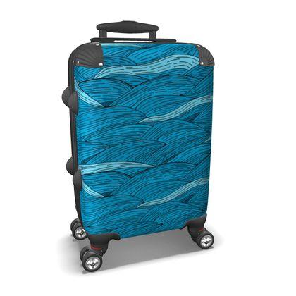 Suitcase - Blue waves