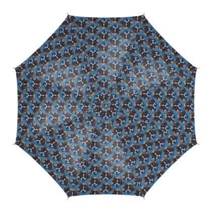 Mr Monkie Puzzle the St Bernard Fine Art Print Umbrella by Somerset (UK) Artist and Designer Amanda Boorman