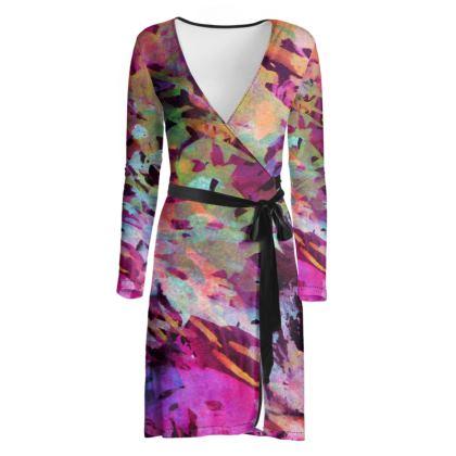Wrap Dress Watercolor Texture 14