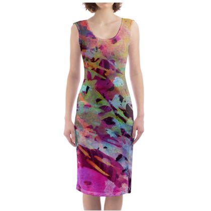 Bodycon Dress Watercolor Texture 14