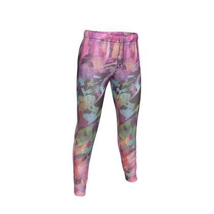 Womens Jogging Bottoms Watercolor Texture 14