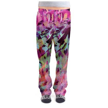 Ladies Pyjama Bottoms Watercolor Texture 14