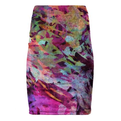 Pencil Skirt Watercolor Texture 14