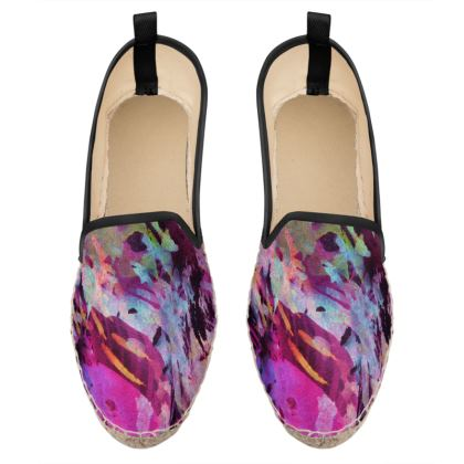 Loafer Espadrilles Watercolor Texture 14