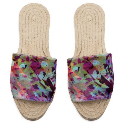 Sandal Espadrilles Watercolor Texture 14